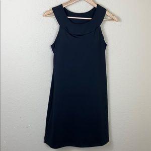 Athleta black athletic mini dress built in bra S